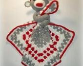 Sock Monkey Lovey Crochet Pattern
