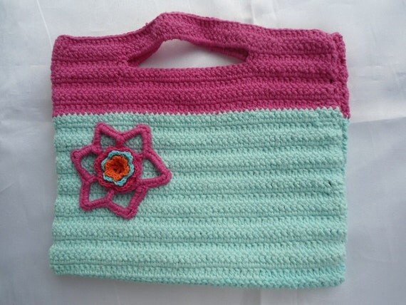 Crochet Bag For Girl : SALE ----- GIRLS CROCHET Bag - Bohemian style crochet bag- Toddler Bag