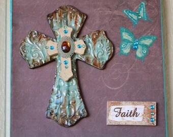 Cross Canvas with Butterflies, Cross Canvas, Inspirational Art, Christian Art, Wall Hanging, Faith, Crosses, Inspirational Home Decor