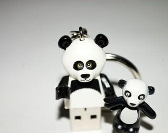 128GB Panda Guy USB Flash Drive with Key Chain