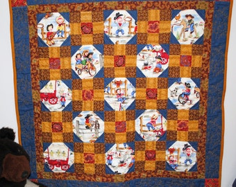 Patchwork baby quilt, Little Cowpoke