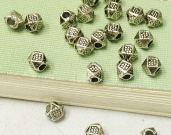 Spacer Charms -200pcs Antique Silver Nugget Spacer Bead Charm Pendants 3mm A508-4