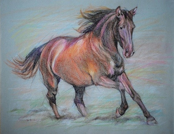 Galloping horse sketches - photo#55