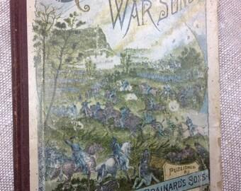 Antique war song music book 1800s