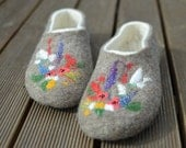 RESERVED for junick , Felted slippers US 11 Ready to ship