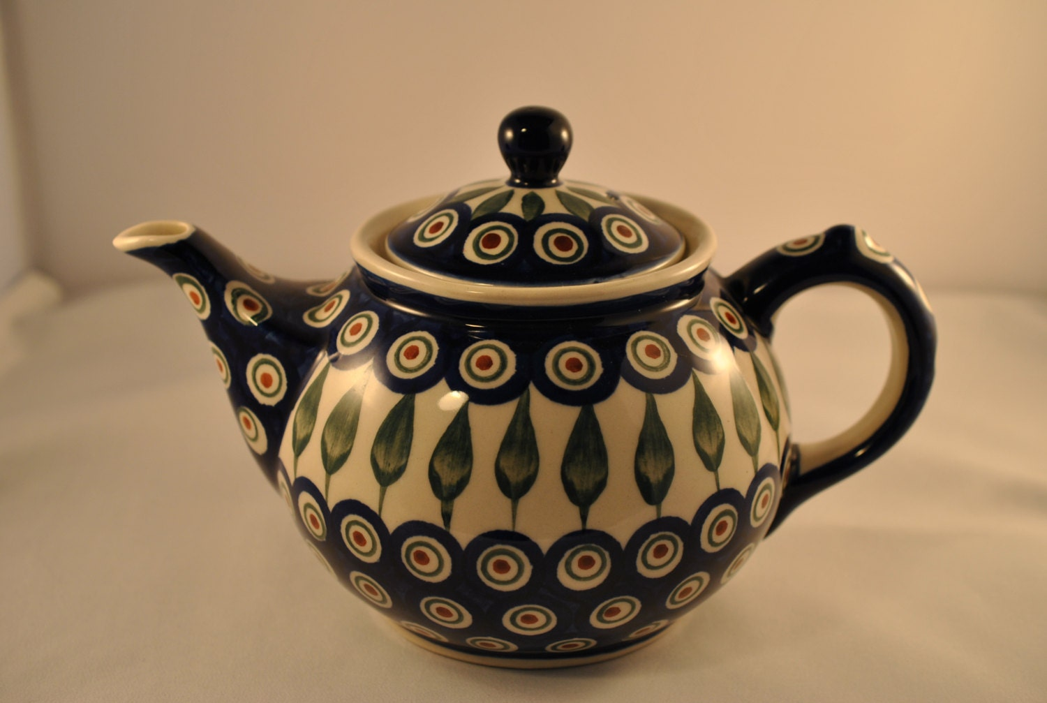 Polish Ceramic Teapot Boleslawiec Pottery Hand Made In
