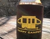 Happy Pop Up Camper Koozie