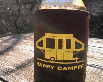 Happy Pop Up Camper Can Cooler
