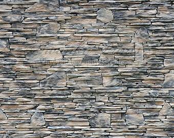 11ft x 8ft Vinyl Photography Backdrop / Multi Stone Rock Wall