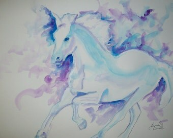 12x18 WATERCOLOR HORSE Painting