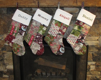 Medium Patchwork Christmas Stocking