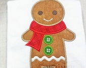 Ginger bread Boy Applique Long Sleeve shirt - WhimsyStitchery