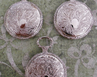 Silver Pocket Watch Pendants