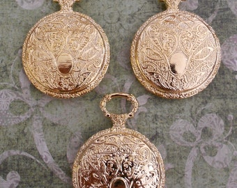 Gold Pocket Watch Pendants