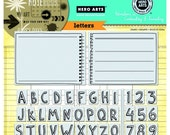 Letters (Alphabets Stamp, Number Stamp, Notebook Page, Note Rubber Stamp). PolyClear Cling Stamps (AC025)
