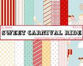 Sweet Carnival Ride Digital Paper Pack - 16 Digital Sheets