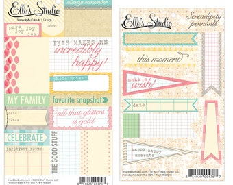 50% Off - Elle's Studio Serendipity Pennants & Cutouts - 2 sheets -- MSRP 2.75