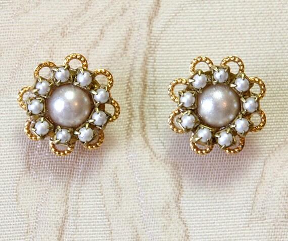 Ivory Pearl Earrings Wedding Bridal Pearl Earrings Wedding
