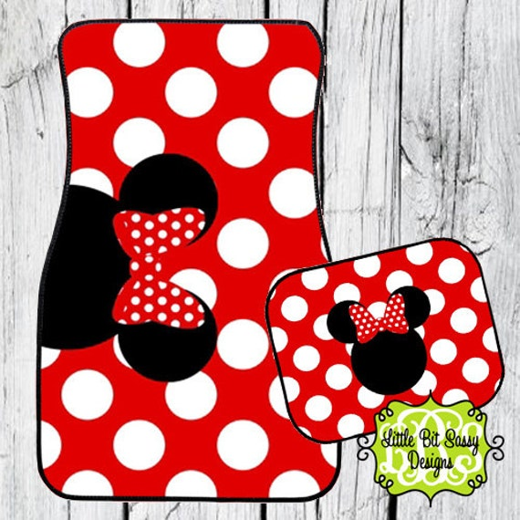 Car Mats Minnie Mouse Personalized Monogram By Littlebitsassy