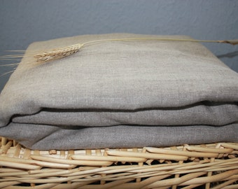 Flax Bed Linen Set... Queen Size Flat Sheet and Two Pillowcases Grey Gray Eco - Custom size