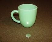Large Heavy Jadeite Coffee Mug 4 Inch D Handle
