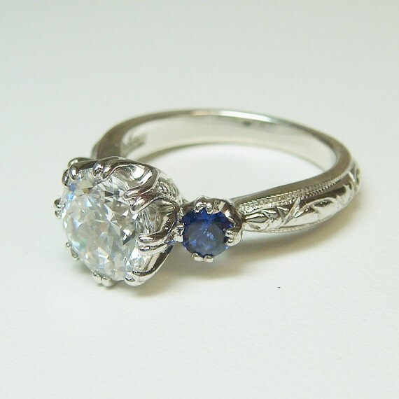 Tacori Crescent Wedding Band 54 Great Art deco engagement rings