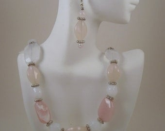Shades of Pink Necklace and Earrings