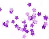Purple and lavender handpunched stars - confetti