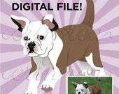 Custom Pet Portrait of YOUR Pet : Digital File Only