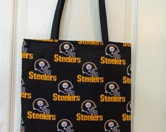 Reversible Tote Bag: Steelers Black