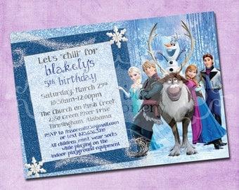 Frozen Cast Birthday Invitation