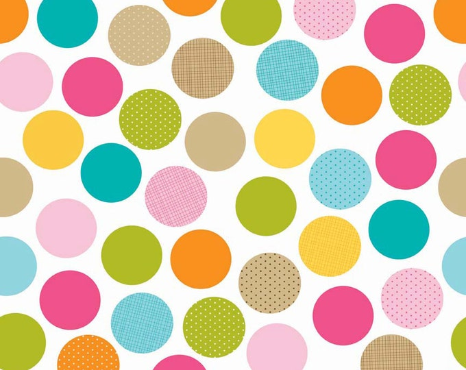 Dots Multi Colored Large Dots From Riley Blake Fabric  C3621