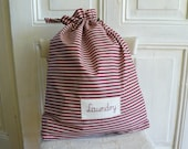 Laundry bag, Big size, Laundry tote, Laundry bag for college, dirty clothes bag, stripes bag
