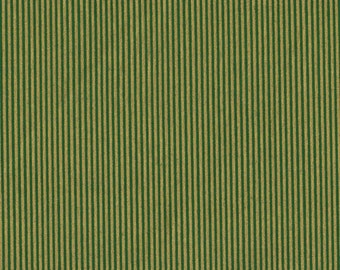 Green Stripe Fabric, Stripe Fabric, Gold and Green Fabric, Green Fabric, Gold Fabric, 1 yard fabric, 01498