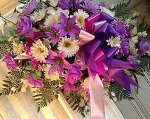 Spring Easter Flower, Headstone Flower, Tombstone Flower, Saddle, Memorial Flower, Cemetery Flower