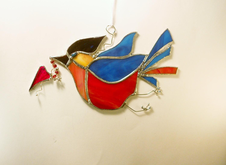 The Happy Blue Bird Home Decor Suncatcher