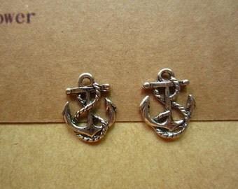 30pcs 17x14mm antique silver anchor charms pendant  C4172