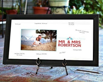 Wedding GUEST BOOK Print, Personalized Photograp, UNFRAMED 10x20 by Memories in a Snap