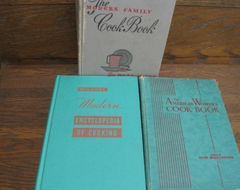 Collection of 3 Vintage Cook Books