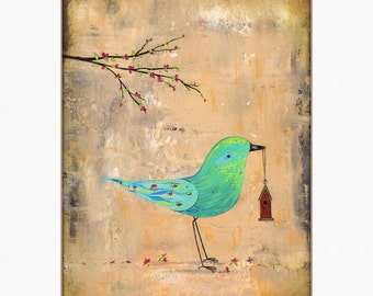 Bird With House PRINT