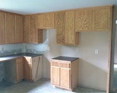 Custom kitchen cabinets with counter tops.