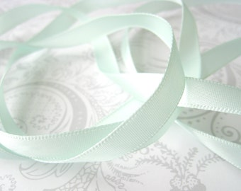 Mint Satin Ribbon 3/8 -- 3 yards -- Pistachio -- 9.5mm