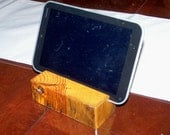 I-Pad Tablet Stand made from reclaimed c.1892 yellow pine
