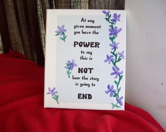 poem on canvas 8 X 10 - Power
