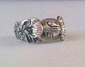 Vintage Fede Ring Sterling Silver OOAK
