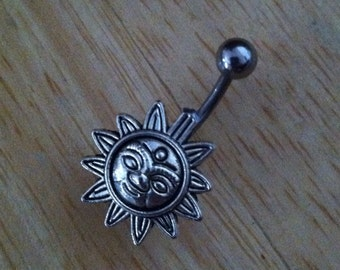 Belly button ring piercing - Body Jewelry - Sun belly ring