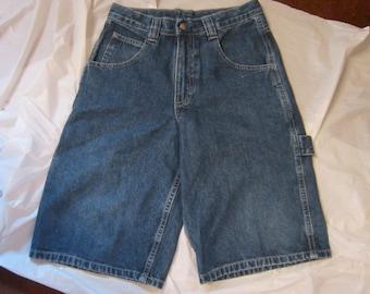 80's Lee Vintage Dark Blue High waist Long Leg Shorts