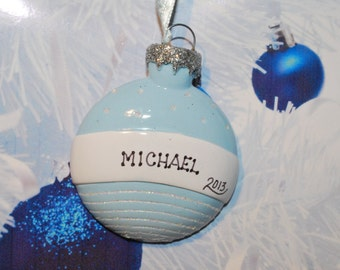 Personalized Baby Boy Ornament Ball