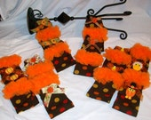 Fall-Thanksgiving Inf/Toddler Legwarmers w/Fancy Bows n Cabochons ...Infants & Toddlers..Thanksgiving, Fall,  Photo Prop,