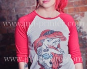 Tattoo Rebel Little Mermaid Ariel Punk Women / Lady Baseball Tshirt